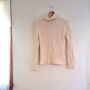 Chunky knit sweater, turtleneck sweater